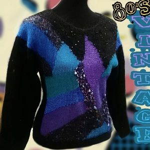Mohair/angora Rad 1980's sweater